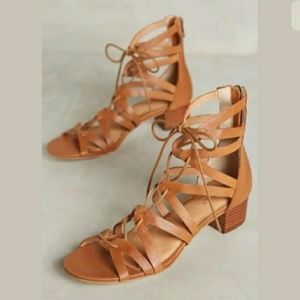 Anthro Corso Como Jamaica Gladiator Sandals Tan